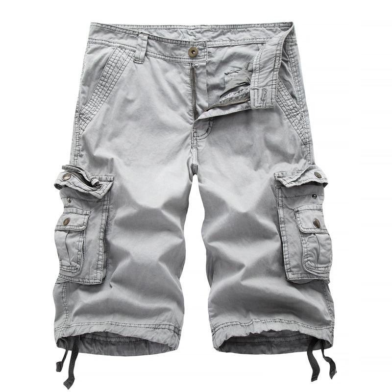 New Cargo Shorts Men Summer Work Short Pants Fashion Military Cargo Shorts Brand Clothing Mens Army Cargo Shorts