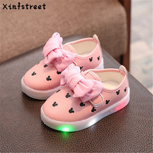 Xinfstreet Fashion Kids Girls Shoes With Light luminate Snea