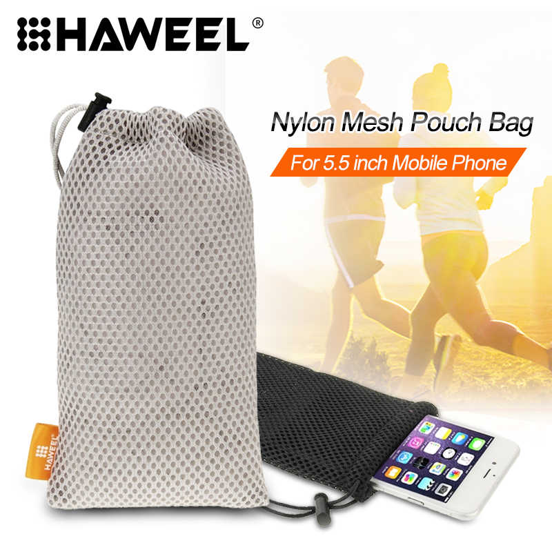 HAWEEL for iPhone 6 & 6s / 7 & 8 Tridimensional Diamond Pattern 3ATM Daily Waterproof Protective Case Phone Bag Case Pouch Bag