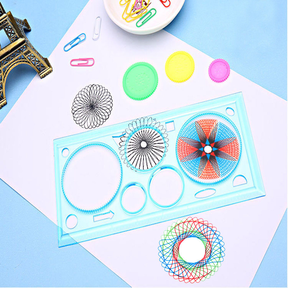 Spirograph Geometric Ruler Drafting Tools Stationery Students Toys Set Learning Art Sets Creative Gift Children Drawing Toys