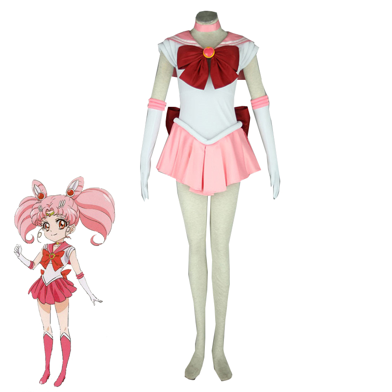 Anime Sailor Moon Chibiusa Cosplay Costume Small Lady Serenity Adult and Kids Pink Dress Halloween Carnival Outfits Custom Made