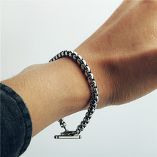 Stainless steel bracelet/couple/women/bileklik/femmeStainless Steel Bracelet Bangle pulsera hombre for women mens bracelets 2019(China)