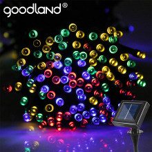 Goodland LED String Lights Garland 20M Fairy Lights 200 Leds Outdoor For Decoration Lighting Solar Panel LED Christmas Lights(China)