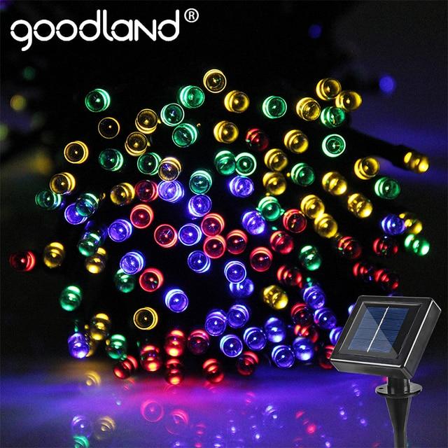 Solar Led Christmas Lights.Us 17 58 20 Off Goodland Led String Lights Garland 20m Fairy Lights 200 Leds Outdoor For Decoration Lighting Solar Panel Led Christmas Lights In Led