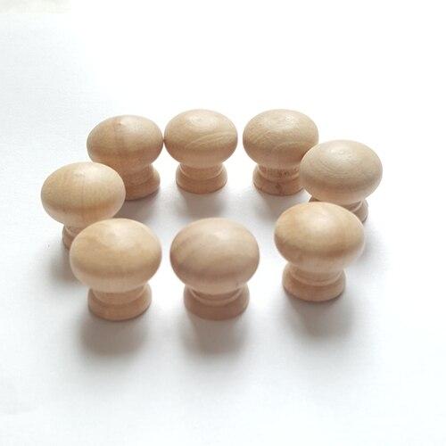 Image 3 - 100 шт 2,0 см * 1,9 см деревянная ручка маленький ящик двери шкафа ручки игрушки МЕБЕЛИ ноги DIY-in Мебельные аксессуары from Мебель on AliExpress