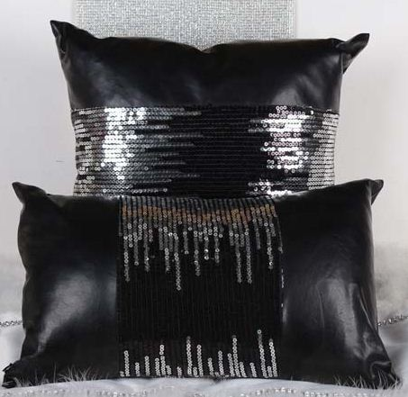 Faux Leather Cushion Covers Sequin Throw Pillows Sofa Couch Extraordinary Faux Leather Pillows Decorative Pillows