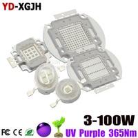 High Power UV Purple LED Chips 370nm 375nm 385nm 395nm 400nm 405nm 425nm COB Ultraviolet Lights for 360nm 3W5W10W20W30W50W100W