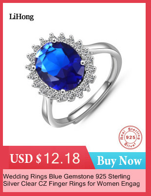 925 Plaqué or Rose Femmes//Hommes New Fashion Crystal Ring Cadeau Taille Ouvert H02