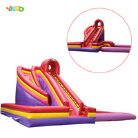 Popular Large Inflatable Outdoor Slide with Water Pool for Adults and Kids