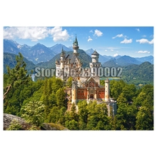 5D Diy Diamond Painting Neuschwanstein Castle Cross Stitch Embroidery Wall Sticker Mosaic scenery Christmas
