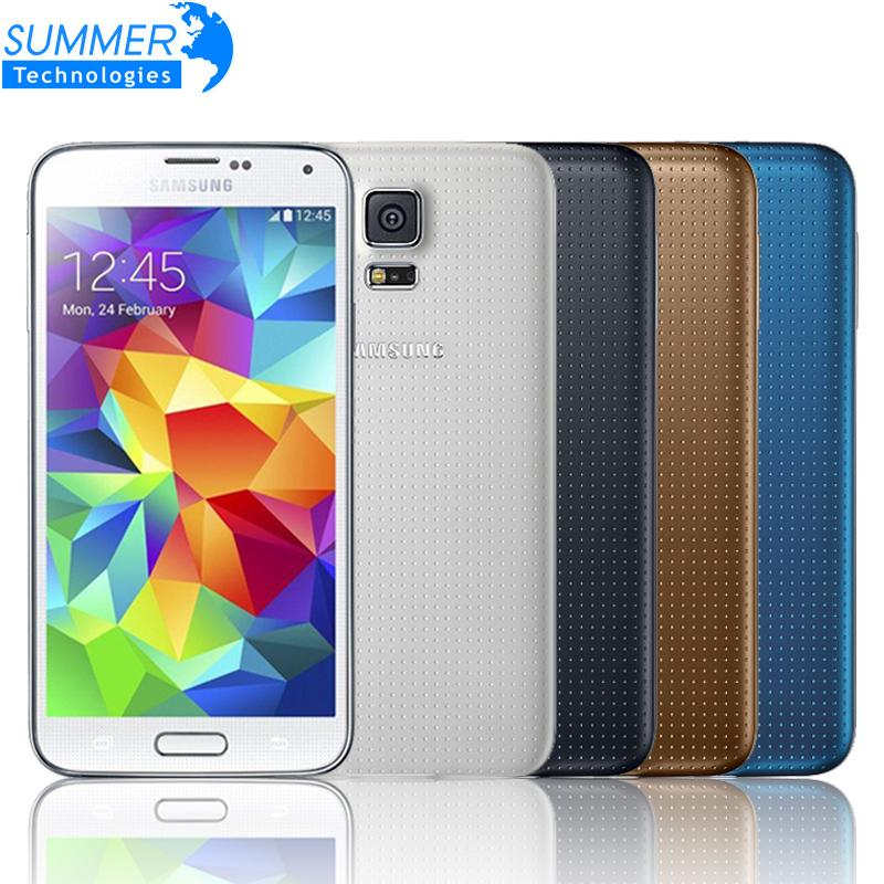 Original Unlocked Samsung Galaxy S5 i9600 Mobile Phone 5 1 Quad Core Refurbished Phone 16MP GPS