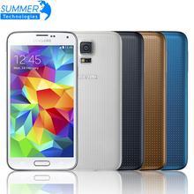 """Abierto original samsung galaxy s5 i9600 teléfono móvil 5.1 """"quad core teléfono reacondicionado 16mp gps nfc teléfonos celulares"""