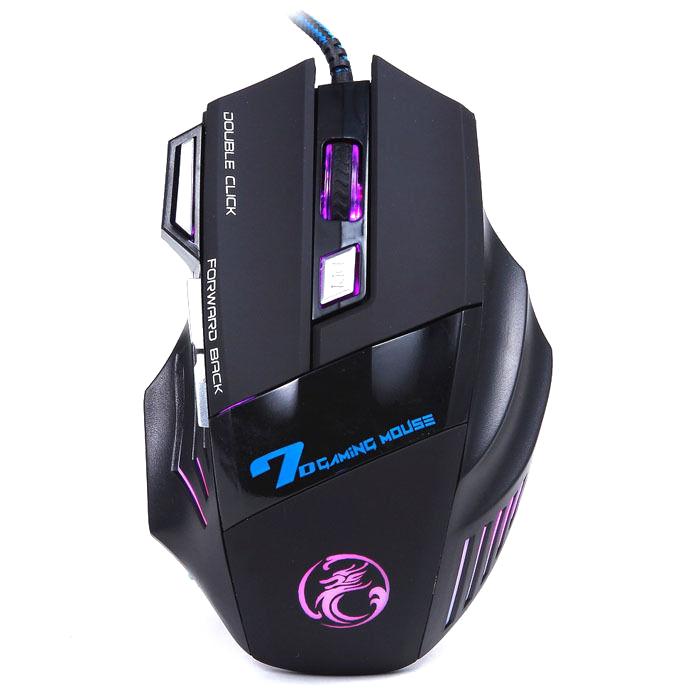 X7 3200 DPI 7 Buttons LED USB Optical Wired Gaming Mouse For PC Pro Gamer Black