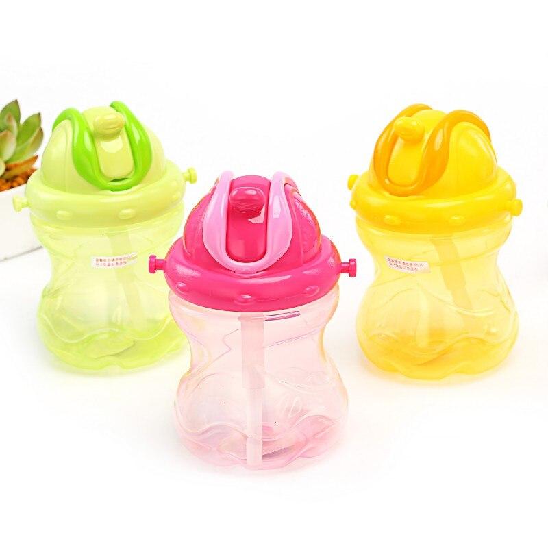 260ml Baby Learning Drinking Bottle With Strap Children Kettle Baby Sip Bottle Children's Water Straw Bottle