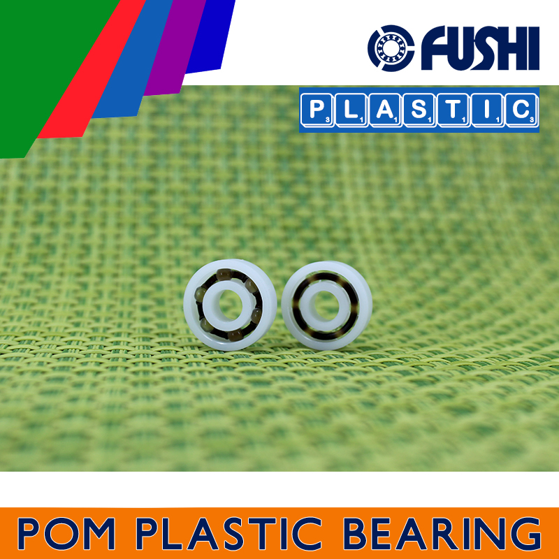 2 PCS Plastic Bearing POM 695 Glass Balls 5x13x4 Ball Bearings