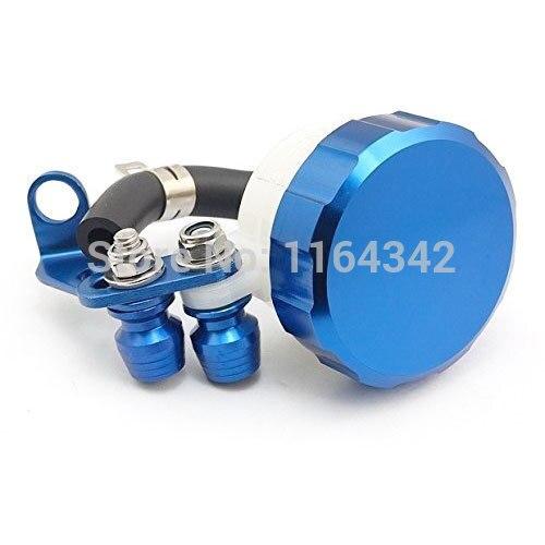 Blue Brake Fluid Reservoir Tank Oil Fluid Cup For Suzuki HAYABUSA/GSXR1300 Yamaha R6S Kawasaki Z1000SX/Ninja 1000/Tourer