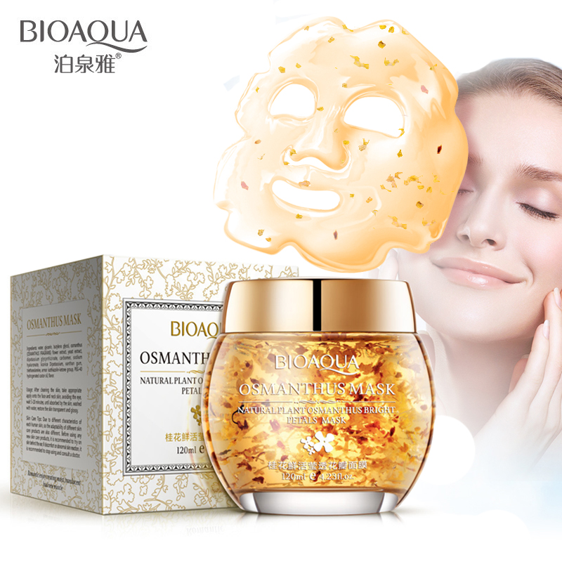 BIOAQUA 120g Osmanthus Petal Mask Plant Bright Petals Clay Nourishing Moisturizing Skin Care Face Acne Treatment Sleeping mask