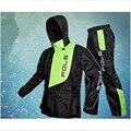 Модный Плащ для мужчин и женщин, водонепроницаемый плащ, костюм, дождевик для мотоциклиста, пончо, большой размер, дождевик, спортивный кост...