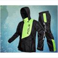 Free Shipping 3 Color Fashion Outdoor Sports Fishing Man & Woman Waterproof Fission Raincoat Suit Motorcycle Raincoat +pants