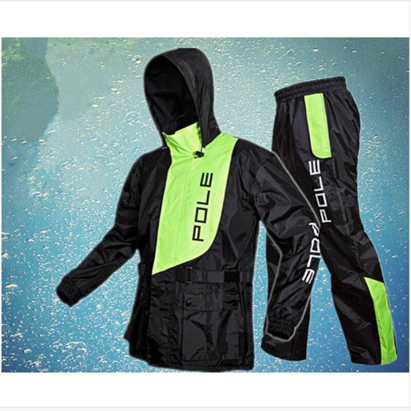 Ev ve Bahçe'ten Yağmurluklar'de Moda yağmurluk erkek ve kadın su geçirmez yağmurluk takım elbise motosiklet yağmur ceket panço büyük boy yağmurluk açık spor takım elbise ceket'da  Grup 1