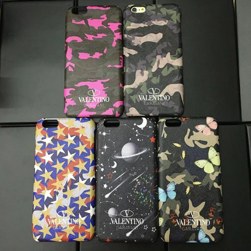 the latest a4317 e445d US $9.99 |Luxury Valentino Cell Phone Cover Case For iPhone X 8 Plus 7 7  Plus 6 6S 6 Plus Camouflage Leather Hard PC Cover Coque Fundas-in ...