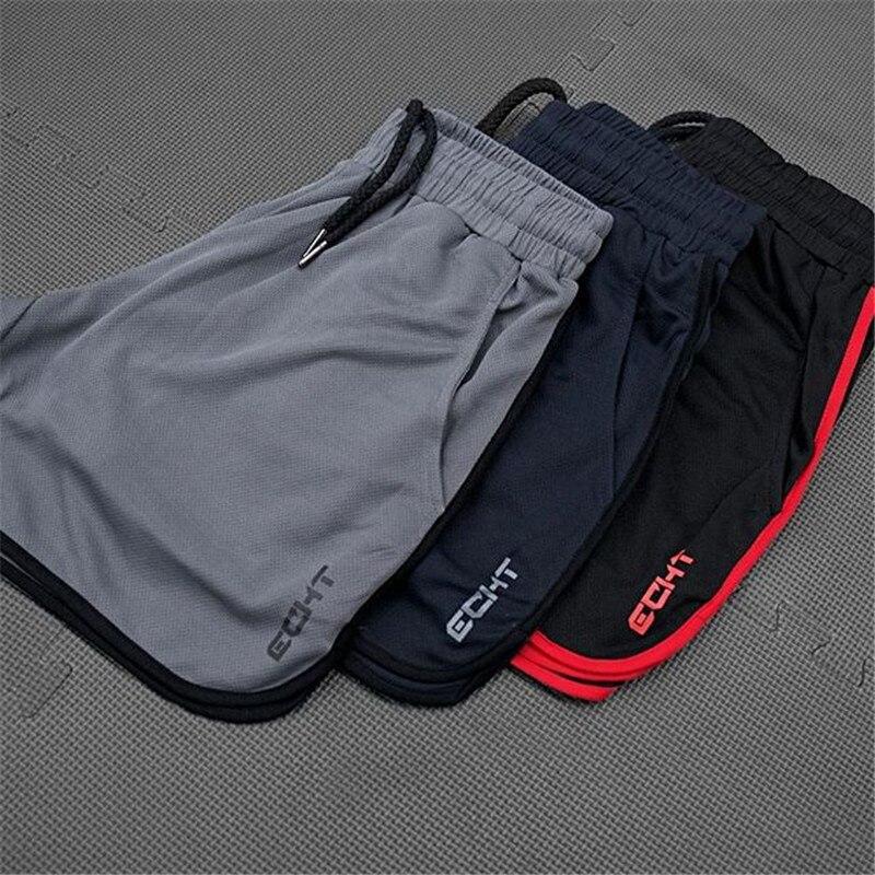2020 Summer Mesh Breathable Gyms Sporting Shorts Men Men's Short Homme Casual Brand Clothing Letter Elastic Waist Gyms Shorts