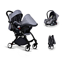 Baby Stroller 3 in 1 with Car Seat For Newborn High View Pram Folding Baby Carriage Travel System carrinho de bebe 3 em 1