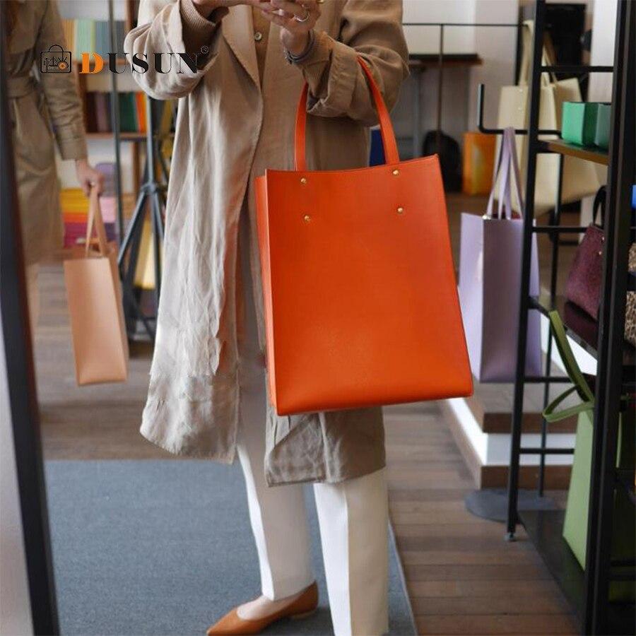 DUSUN 2pcs/Set Women Bag Tassel Pure PU Leather Shoulder Crossbody Bag Women Handbag Scarves Set Large Tote Female Shopping Bag