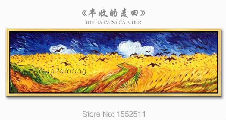 Hand Painted Canvas Painting van Gogh wall Art pictures for living room Bed Room Home vintage home decorative Reproduction 5