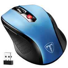 VicTsing 2.4G Wireless Portable Mobile Mouse Optical Mice with USB Receiver 5 Adjustable DPI Level 6 Buttons for  Notebook PC