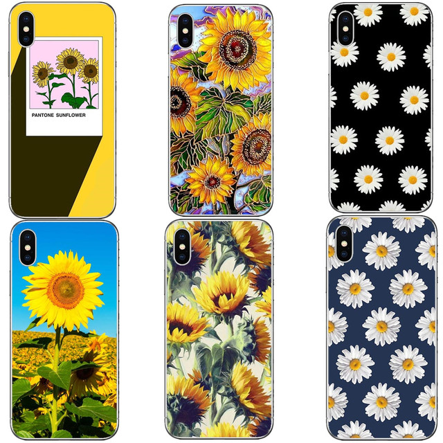 hot sale online 75d5c d87f2 US $1.55 40% OFF Van gogh sunflowers Hard PC Phone Cases Cover For iPhone X  Daisy Flower Phone Cover For iPhone 5 5S SE 6 6S Plus 7 7plus 8 8Plus-in ...
