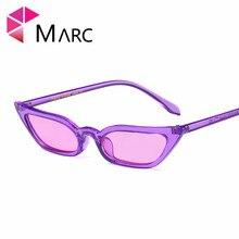 MARC UV400 2018 NEW WOMEN MEN sunglasse Plastic Gradient Black Cat eye Fashion Resin Red Small