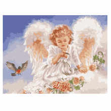 RIHE Angel Painting By Numbers Ballet Oil On Canvas Hand Painted Couples Cuadros Decoracion Acrylic Paint Home Decor