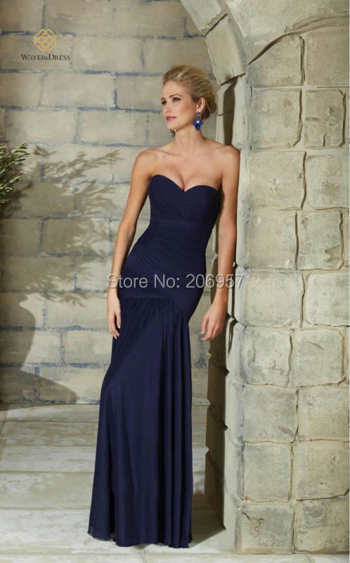 New Arrival Elegant Royal Blue Long Evening Dress Pleated Chiffon Mother of  the Bride Dresses with 3 4 sleeves Jacket Bolero-in Evening Dresses from ... de6651f28020