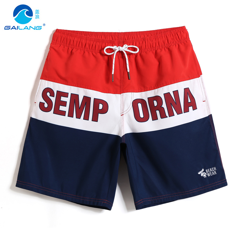 2019 Men's New swimsuit   board     shorts   swimsuit bathing suit hawaiian bremudas joggers briefs joggers quick dry surfing mesh