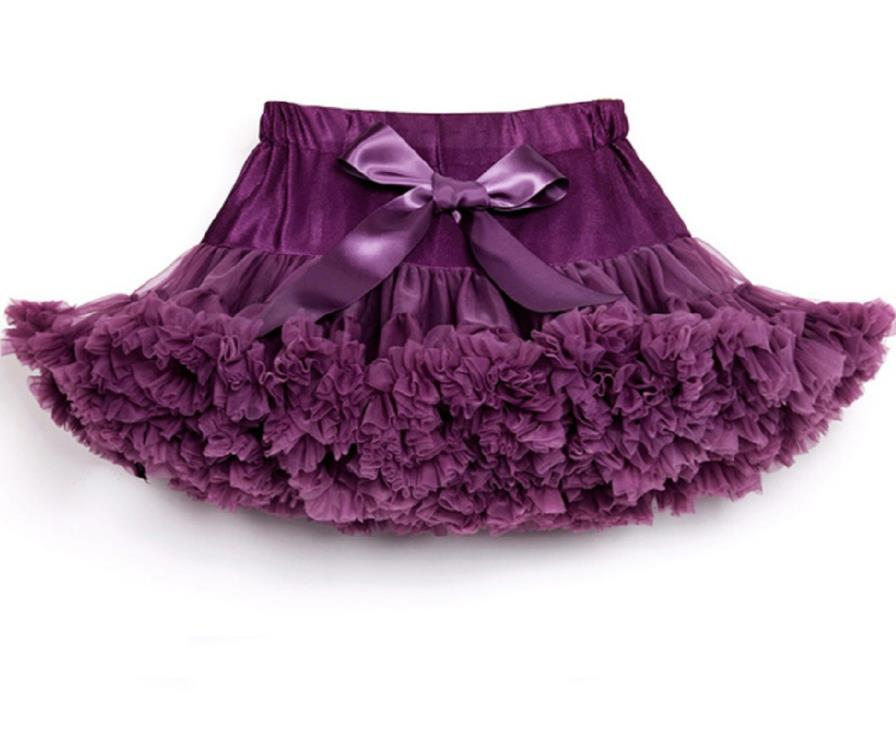 Детские Нижние юбки для девочек юбка-пачка Нижняя юбка для девочек девочки пачки, миниатюрные юбки шифоновая юбка воздушная юбка подростковая одежда для девочек - Цвет: rubber purple