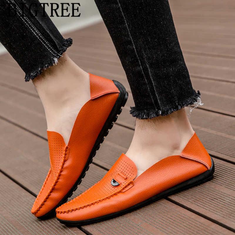Nefes ayakkabı yarım ayakkabı Erkek mokasen ayakkabıları lüks marka Erkek ayakkabı hakiki deri Zapatos Hombre rahat Cuero Erkek Ayakkabi