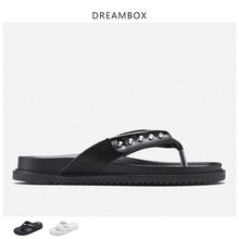цена на 2019 Summer Men's Flip-flops Leather Thick Bottom Non-slip Personality Flip-flops Fashion Outdoor Beach Shoes Tide Shoes