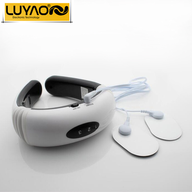 Electric pulse Wireless Remote Control Neck massager.Impulse Cervical Vertebra Treatment massage.Acupuncture magnetic therapy