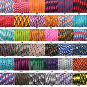 Image 4 - YoouPara 250 Colors Paracord 550 Rope Type III 7 Stand 100FT 50FT Paracord Cord Rope Survival kit Wholesale