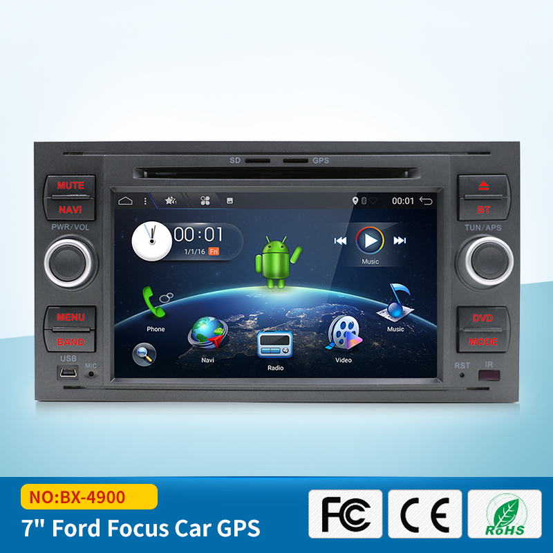 Android 7.1 Quad core RAM 2G /1G Car DVD GPS Radio stereo For Ford Mondeo S-max Focus Connect PC