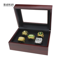 5pc 1965 1966 1967 1996 2010 Green Bay Packers Super Bowl Championship Ring Zusammen Set Solid