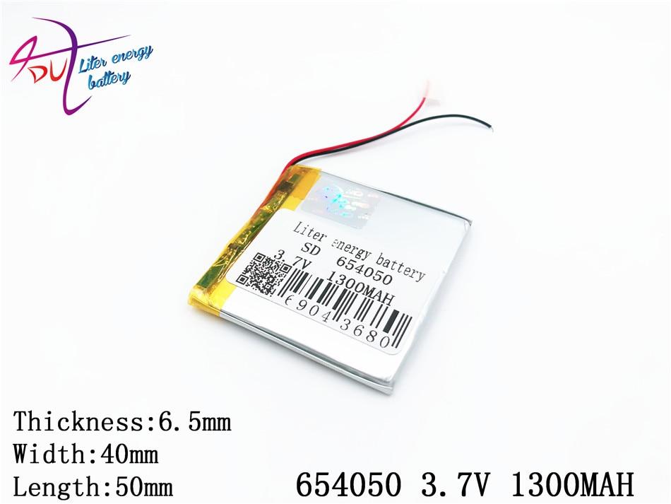 Mp3 Dvd Mp4 3,7 V 1300 Mah 654050 Polymer Lithium-ion/li-ion Batterie Für Gps Mp5 Bluetooth Modell Spielzeug Mobilen Bluetooth