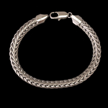 MxGxFam 200*8mm)Rhodim color Fashion Snake Bracelet Men Jewelry Not Skin Allergy