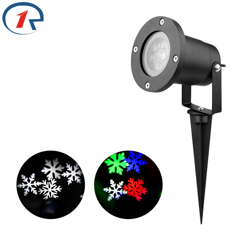 ZjRight NEW LED RGBW Stage Lights Auto Rotating Projector snowflakes dj disco lamp outdoor Xmas Home party Garden decor lighting