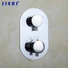 Faucet Control-Valve Shower Single-Handle W/diverter JIENI Tap Mixer Thermostatic Wall-Mounted