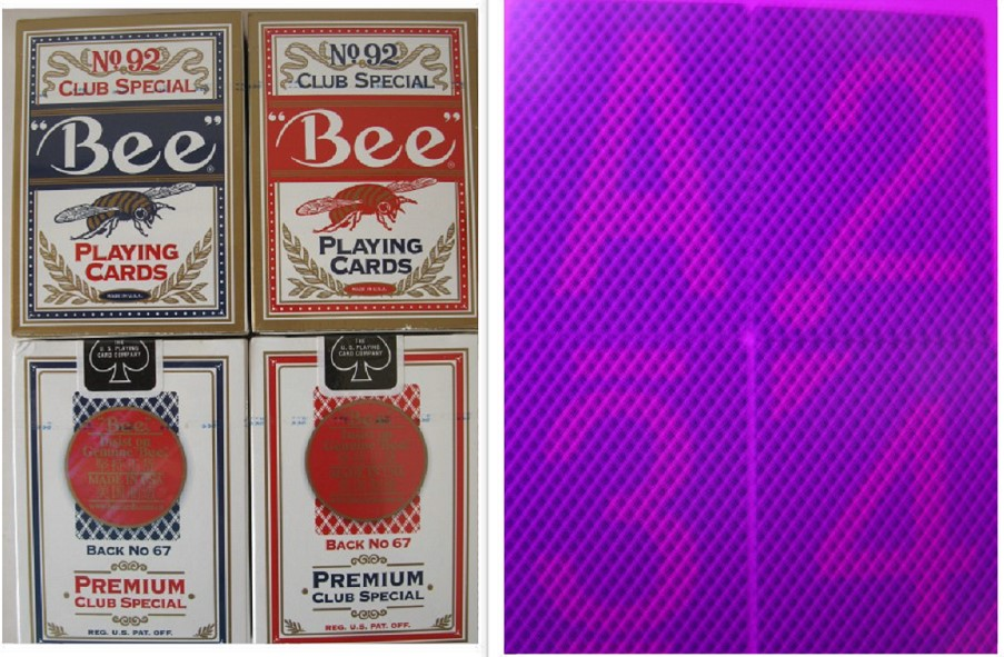 Magic poker home-Customized 92 Bee perspective poker card ,marked cards.Sales perspective contact lenses,88x63mm