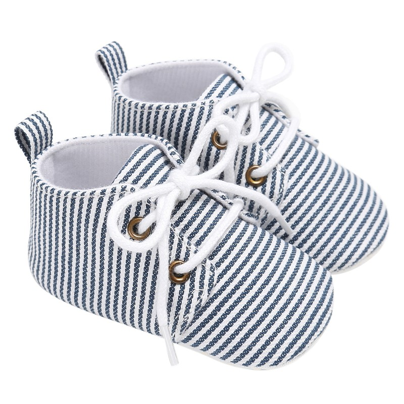 2017 Infant Toddler First Walkers Newborn Baby Striped Lace-Up Shoes Kids Sports Shoes