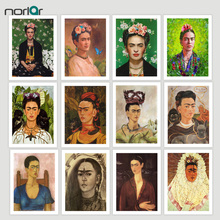 Фотография HD Printed Frida Kahlo Self Portrait Canvas Art Print Painting Poster Wall Pictures For Room Decoration Home Decor  No Frame