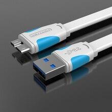 Удлинительный Кабель USB 3,0 Type A к Micro B, 0,5 м/1 м/1,5 м/2 м для внешнего жесткого диска, HDD для Samsung Note3, кабель для передачи данных USB HDD